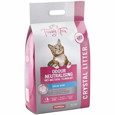 Trouble N Trix Trouble & Trix Fresh Scent Anti Bacterial Crystal Cat Litter