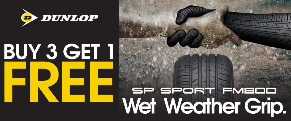 Dunlop Buy 3 Get 1 Free Promotion
