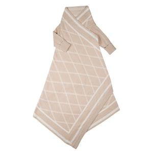 Jujo Baby Criss Cross pattern Shwrap™  - Latte/ecru