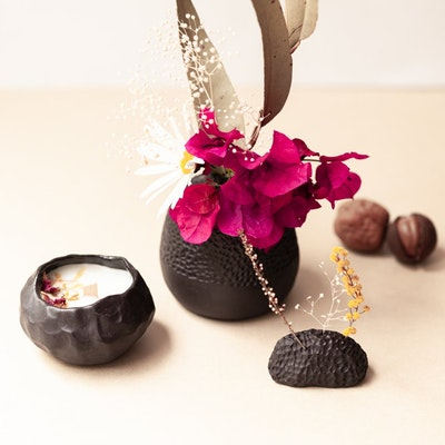 Sand and Fire Designs Ceramic vase candle and incense holder gift pack