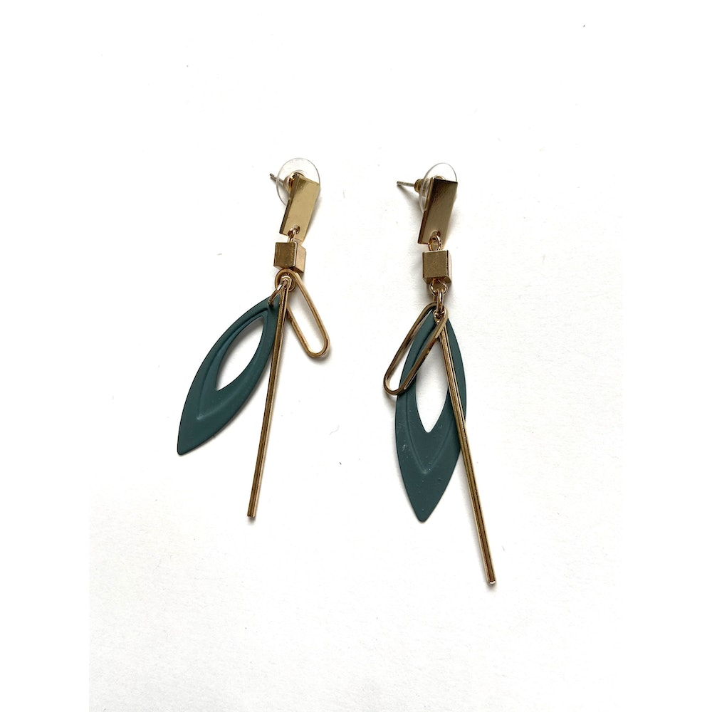 One of a Kind Club Grey Strong Curvy Earrings