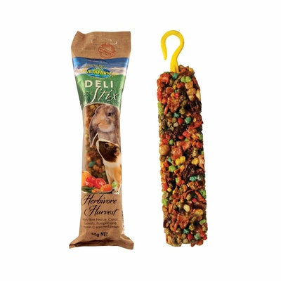 Vetafarm Deli Stix Herbivore Harvest Exotic Pet Food 9 x 80g