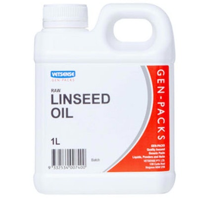Vetsense Gen Pack Linseed Oil Animal Feed Supplement Cold Pressed 20L