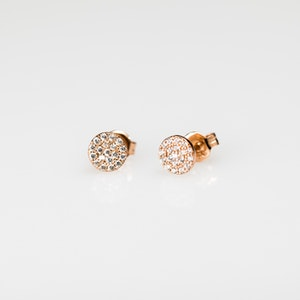 I Dream of Silver Stud Earrings with Cubic Zirconia
