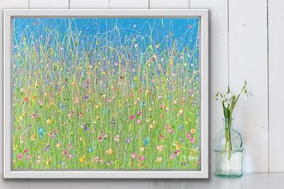 Fiona Adams Artwork My Delight - Original painting (75.5cm x 61cm)