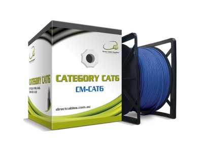 DCS 305m Cat6 Ethernet Network computer cable in blue
