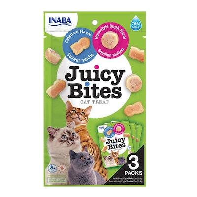 INABA Juicy Bites Cat Treat Homestyle Broth & Calamari Flavor 6 x 34g