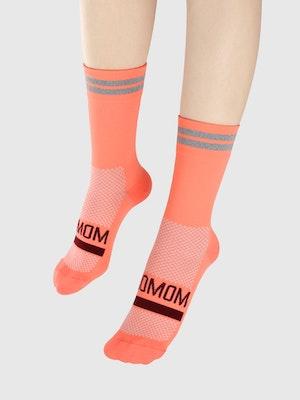 Soomom Reflective Chic Logo Cycling Socks - Pink