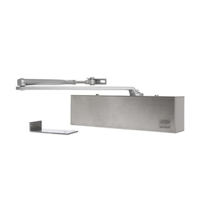 Lockwood 7726DA Series Surface Mounted Door Closer with Delayed Action Finished in Satin Stainless Steel