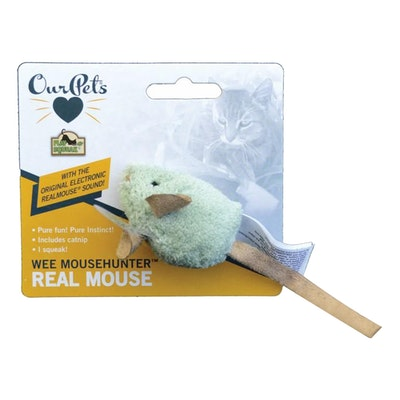 Our Pets Play-N-Squeak Wee MouseHunter Cat Toy 5.5cm