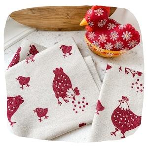 Organic Chicken Tea Towel