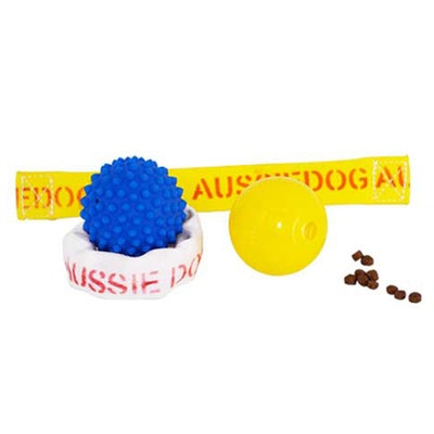 Aussie Dog Puppy Pack Pet Dog Toy Ball Ringathong - 2 Sizes