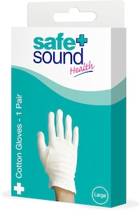 Safe + Sound Health Protective Cotton Gloves 1 Pair Large