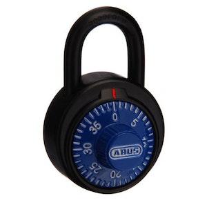 ABUS Circular Combination Padlock with Key Override – Blue 78KC50