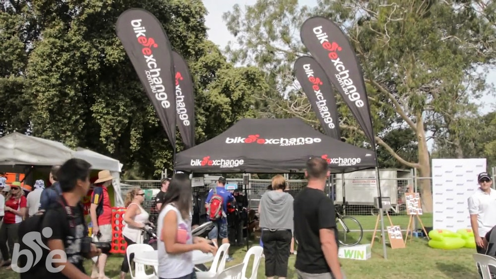 tour down under bikeexchange stand