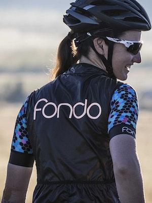 Fondo Women's Cycling Windproof Vest l Silver