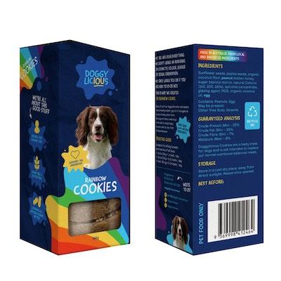Doggylicious Rainbow Cookies Dogs Tasty Treats 160g
