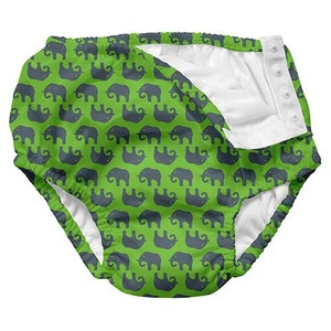i play. Mix and Match Ultimate Snap Swim Diaper - Lime Geo Elephant