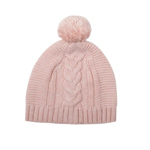 Jujo Baby Lighterweight Cable Beanie - Blush Pink