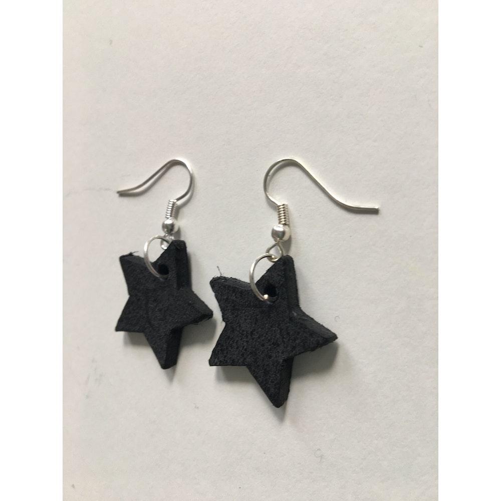 One of a Kind Club Dark Grey Star Earrings