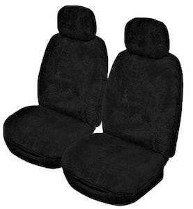 Alpine Sheepskin Seat Covers 25Mm (Pair) Airbag Safe | Black