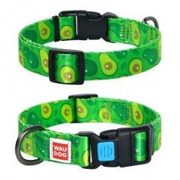 WauDog by the Collar Company WauDog Nylon Dog Collar -Avocado - Sizes: X-Small, Small, Medium, Large
