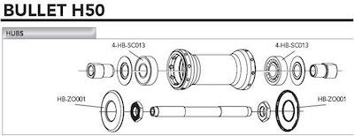 Campagnolo Hub Bearing (4 Pcs)