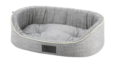 Grey Nautical Pet Bed | Daniel's Pet Emporium