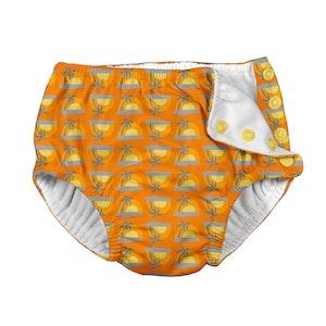 i play. Mix & Match Snap Reusable Absorbent Swimsuit Diaper-Orange Sunset Geo
