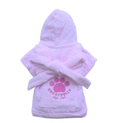 DoggyDolly SMALL DOG - Bath Time Pink Doggy Robe