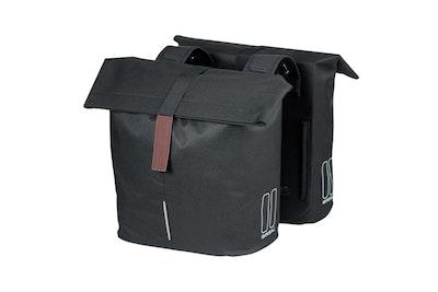 Basil City Double Bag Black 28-32L