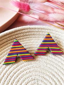 Rainbow Lines V XL Studs
