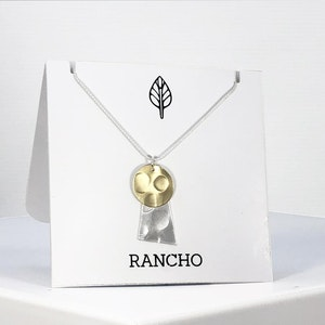 Flat Disc and Rectangle Rhombus Chain Necklace