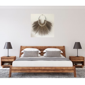 Large palm inflorescence wall hanging