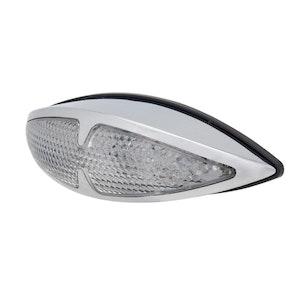Fox Tail LED Tail Light with Indicators - Chrome