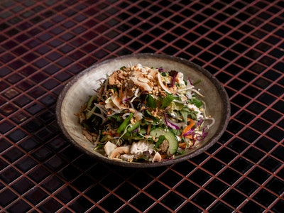 Coconut Poached Chicken Salad