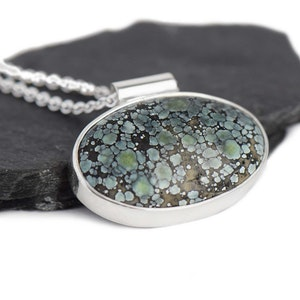 Star Fox Variscite Silver Necklace