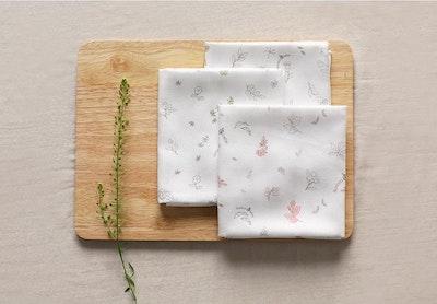 Bamboo Gauze Handkerchief 6pcs Set (Embossed)