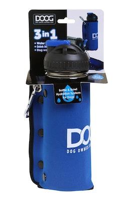 Doog 3 in 1 Water Bottle  / Bowl - Blue