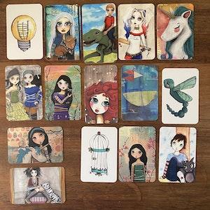 Set of 5 randomly selected gift tags