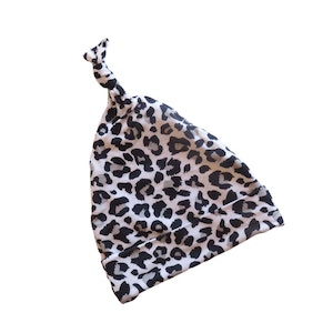 Marli & Me™ Bamboo Jersey Knotted Beanie | Rory Leopard