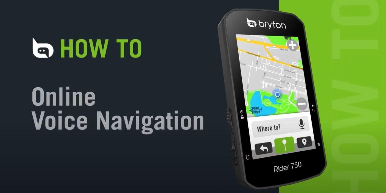 Bryton Rider 750   Online Voice Navigation