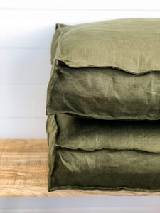 Floor Cushion Cover - Fig 100% European Linen