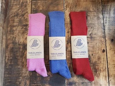 local merino Narrawa ribbed socks