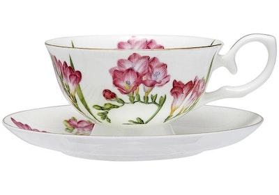Ashdene - Floral Symphony Teacup & Saucer - Freesia