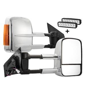 SAN HIMA SAN HIMA Pair Towing Mirrors for Mazda BT50 MY 2012-2020 W/ Indicators