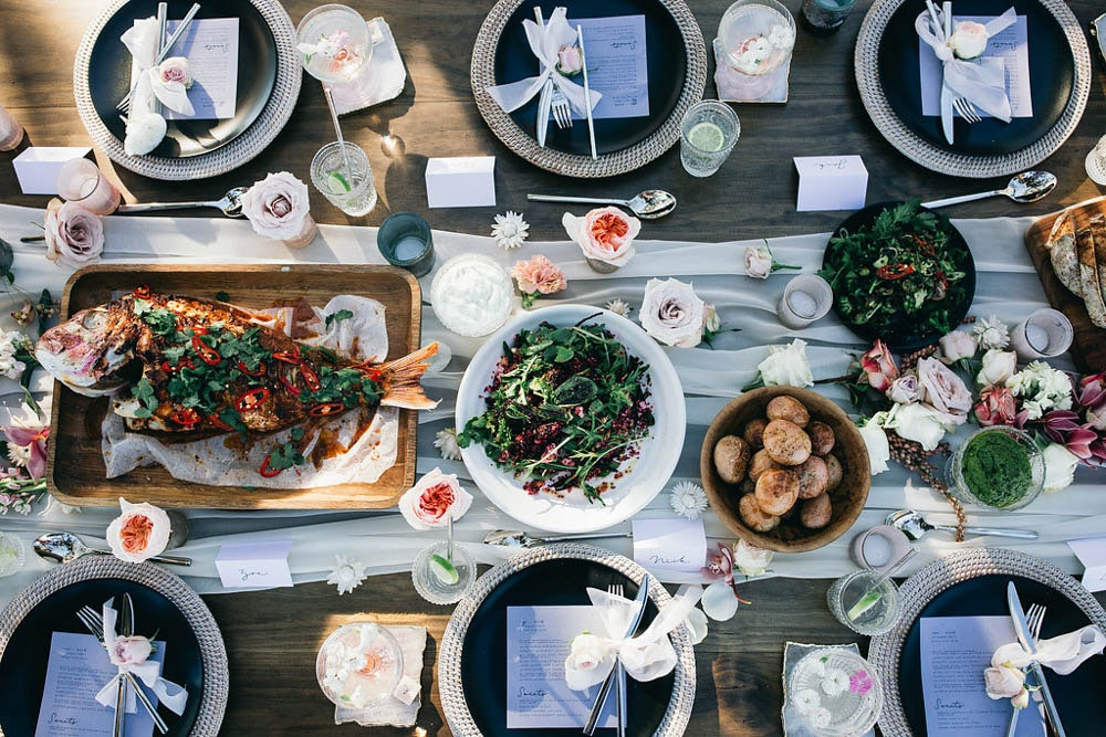 Party with LENZO Boho Byron Bay Wedding Three Blue Ducks Catering