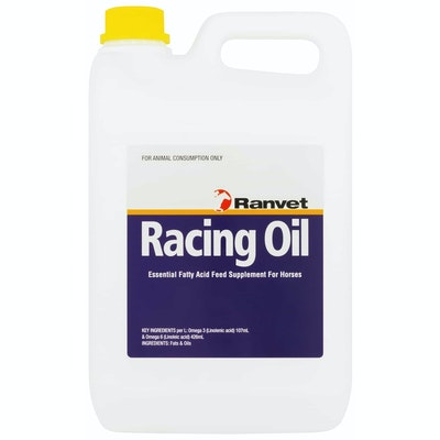 Ranvet Racing Oil Horses Essential Fatty Acid Feed Supplement - 2 Sizes