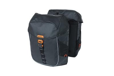 Basil Miles Tarpaulin Double Bag Black Orange 34L