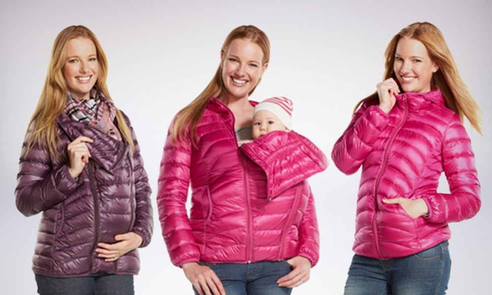 3-in-1 Down-filled Maternity and Babywearing Jacket